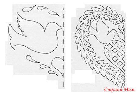 Подборка шаблонов для вырезания ажурных Валентинок