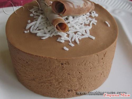 Шоколадный мусс для торта рецепт с фото