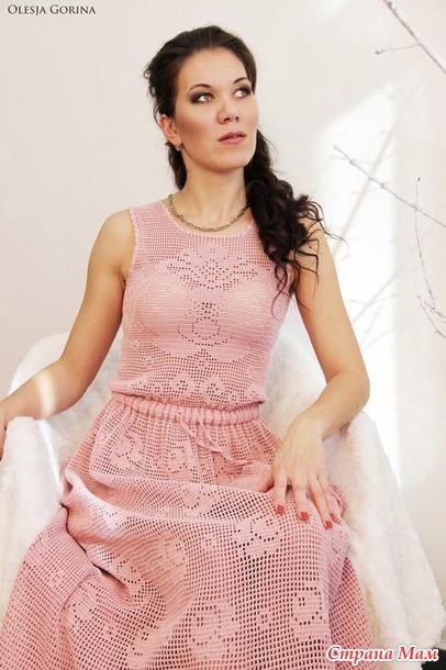 Платье - филеечка