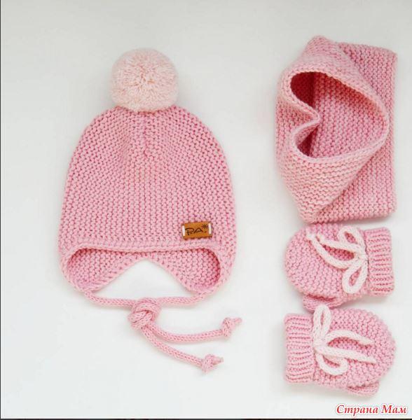 Вязание шапочки в поперечном вязании
