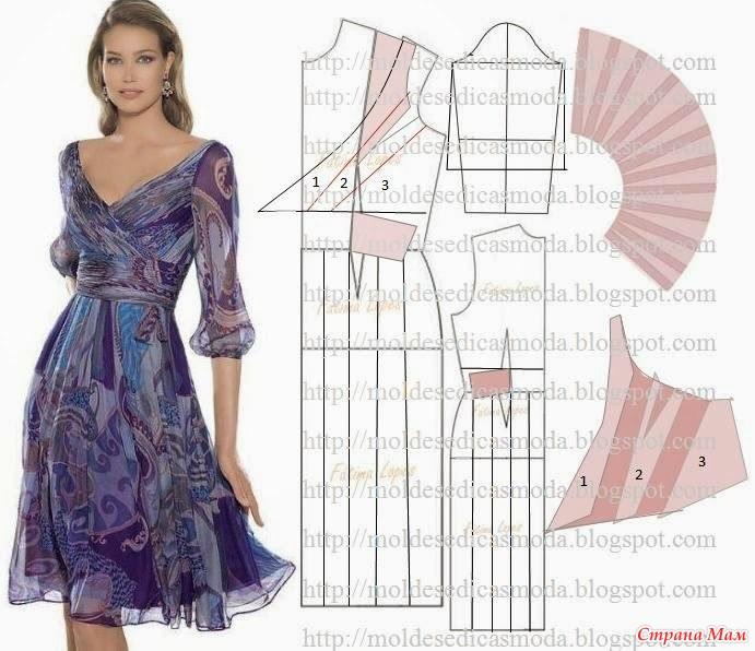 Платья модные с выкройками