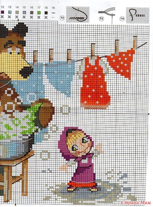 Скачать схемы вышивки крестом медведей