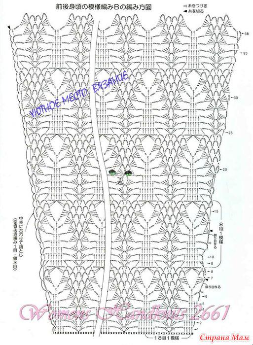 ажурное вязание елочка