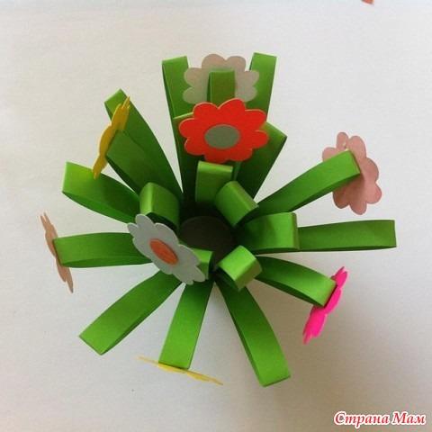 Поделки из цветной бумаги цветы из бумаги своими руками