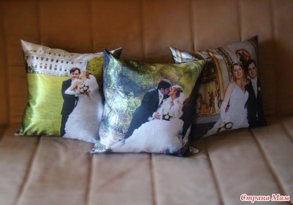 Как можно сделать подушку с фотографией 727