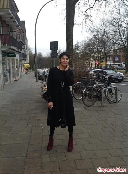 """Платье из мохера """"Монолог цвета"""" (вязание крючком)"""