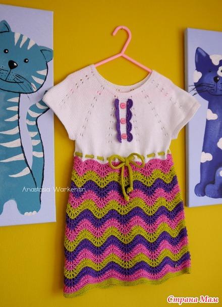"""Платье """"Flieder"""" на девочку 3-4 лет"""