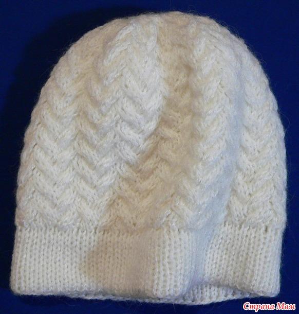 """Женская шапка """"Люпин"""". Мастер класс."""