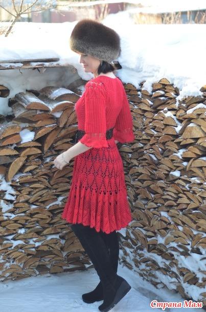 . Красное платье