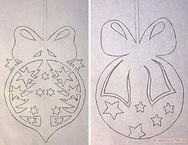 Новогодние украшение из бумаги своими руками на окно