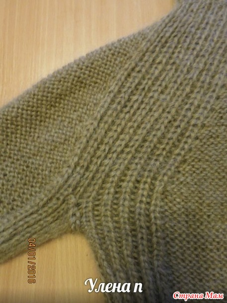 Мой новый ленивый способ вязания реглана сверху без швов. Свитер. Дополнила.
