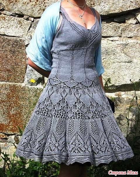 Осинка вязание спицами платье для женщин