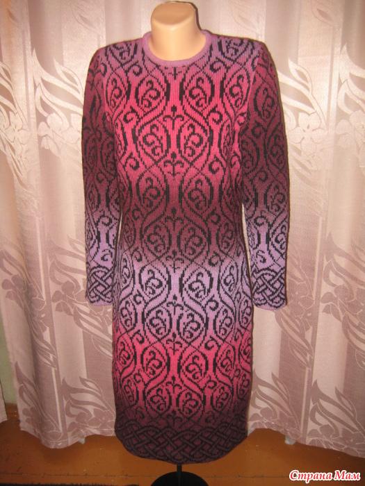 Схема жаккарда платье