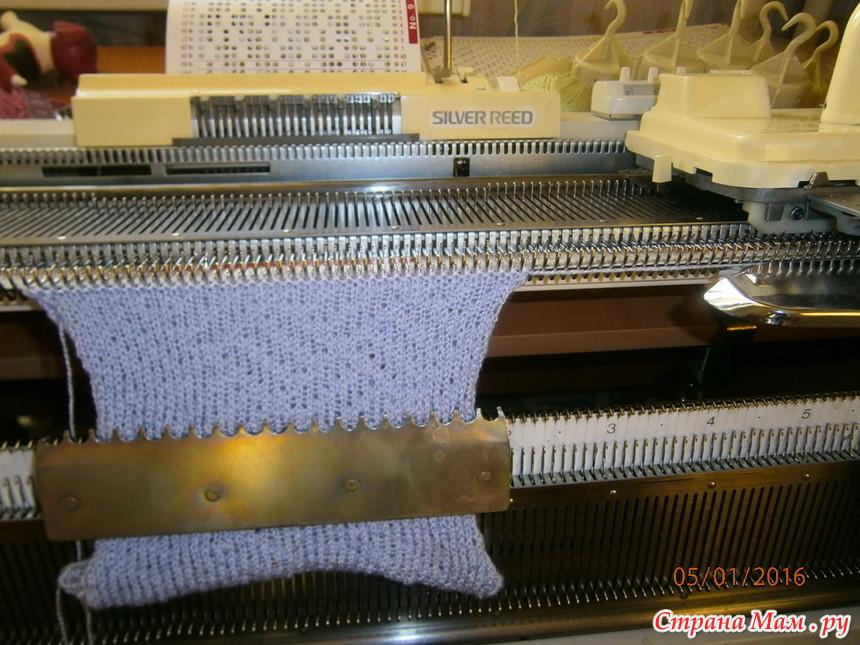 Вязание резинки на сильвер рид