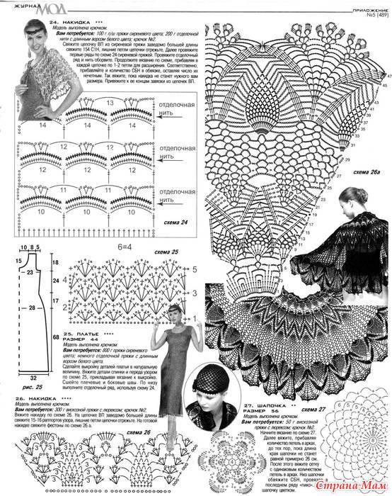 Вязание крючком накидки шали схемы