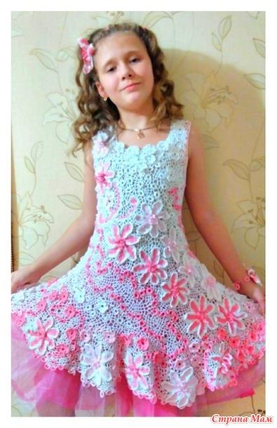 Ирландские кружева детского платья