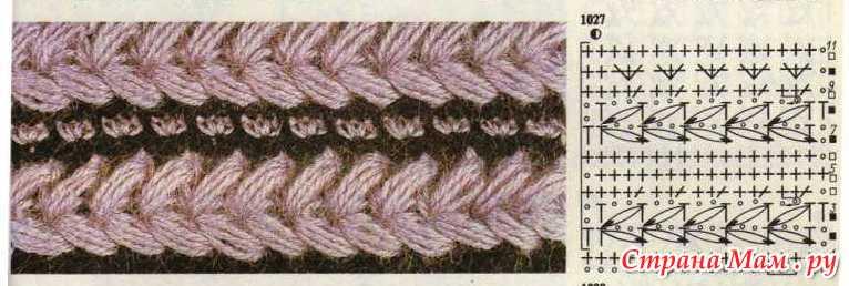 Вязание крючком шапки пышный столбик 84
