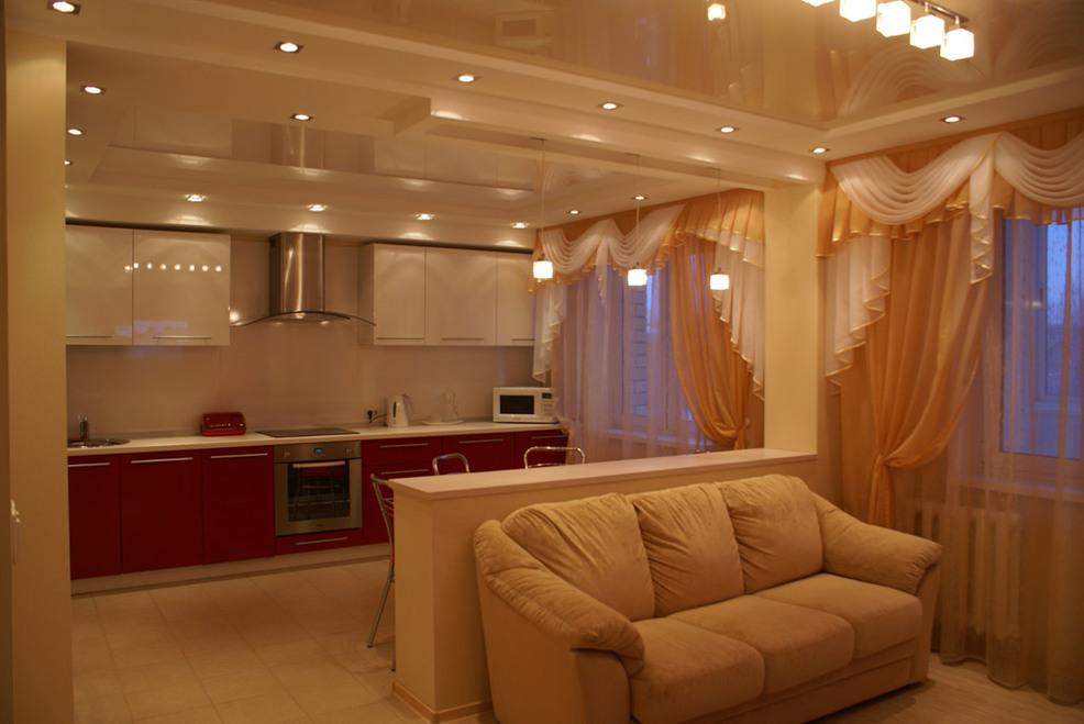 Ремонт дома дизайн кухни с гостиной