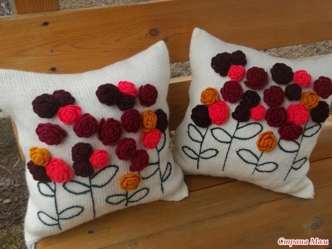 Вязать подушки декоративные