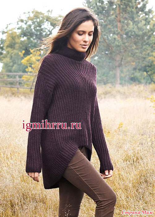 Как связать свитер спицами свободный