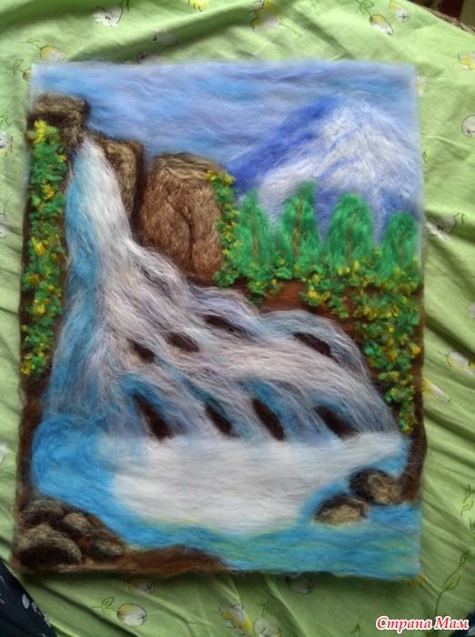 Сухой водопад мастер класс