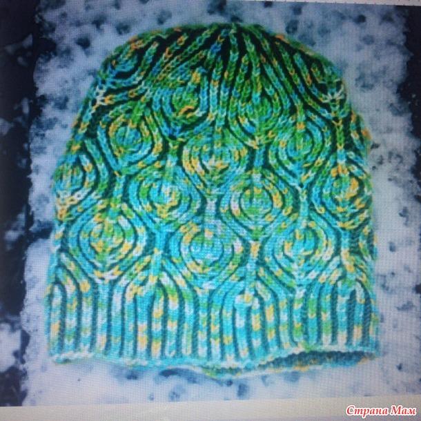 Двухцветное вязание в круг