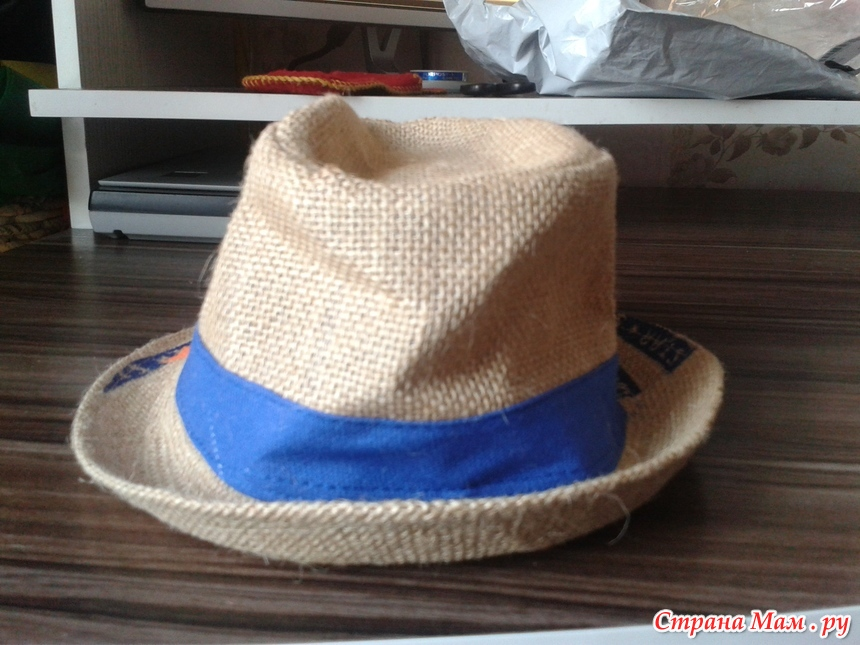 Шляпа из мешковины