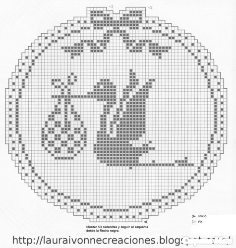 Схема для вязания аист