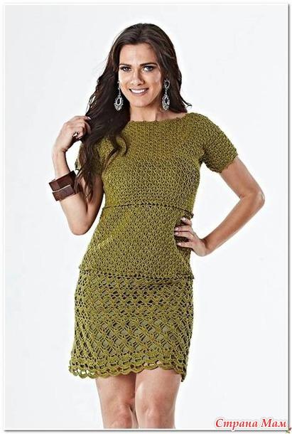 . Ажурное платье VERDE ANNE.