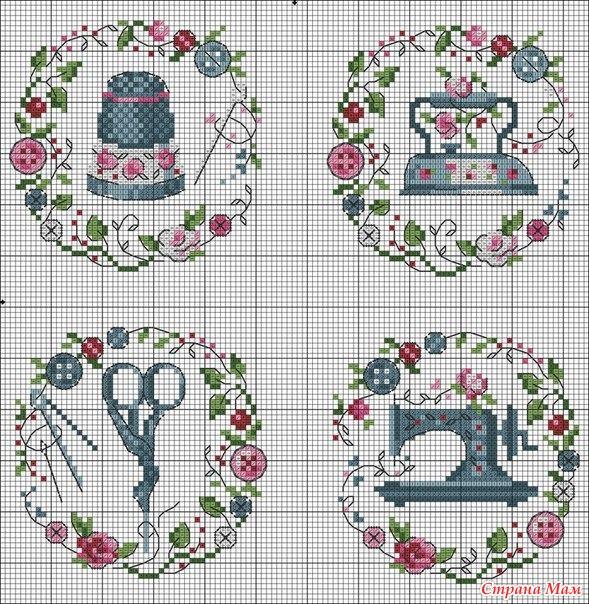 Вышивка на швейную тематику