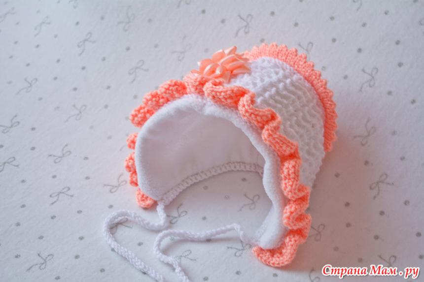 Вязанные шапочки на выписку