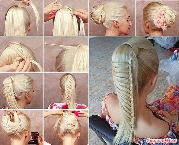 Косы на длинные волосы своими руками фото пошагово фото