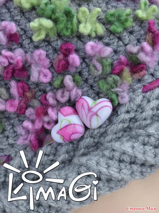 """钩针帽子""""紫丁香"""" - maomao - 我随心动"""