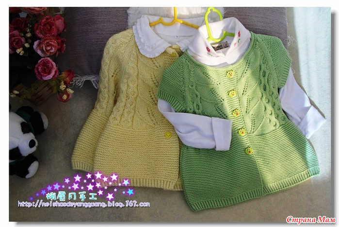 Вязание кофта для девочки 2 года
