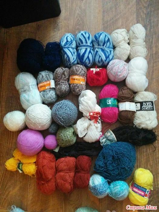 Отдам даром нитки для вязания