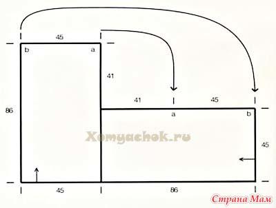 Вязание пончо из двух прямоугольников 28