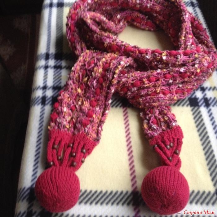 Связать самому шарф