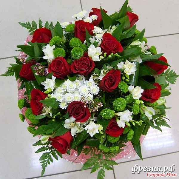 Живое цветов букет