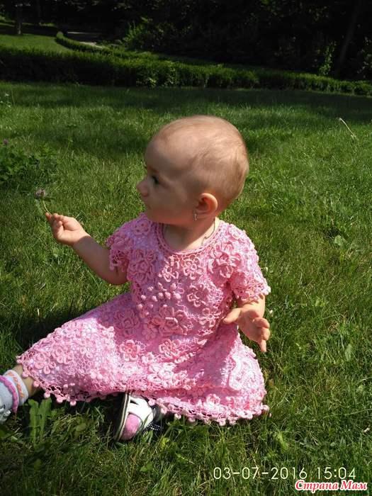 """钩针:""""爱尔兰的婴儿裙"""" - maomao - 我随心动"""