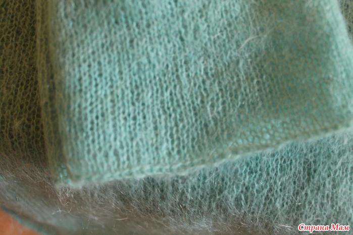 Вязание меланжевой пряжи спицами