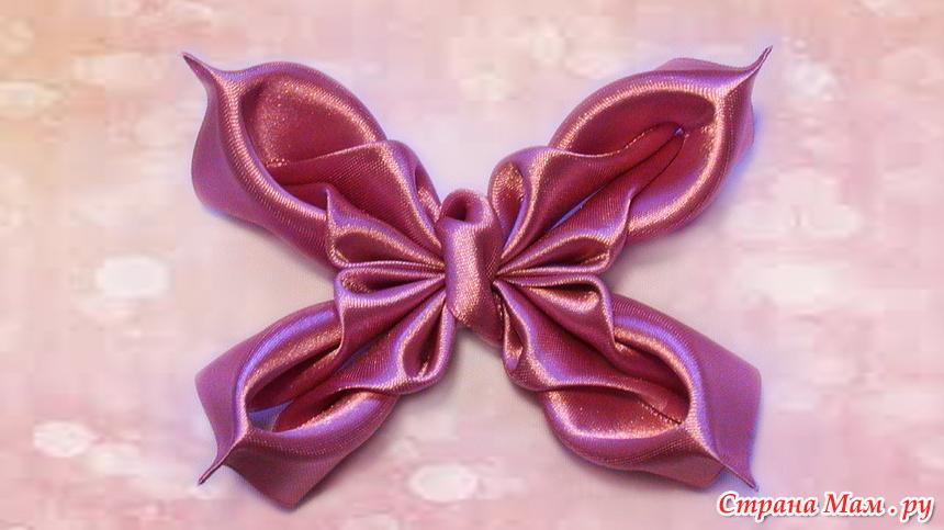 Бабочка-бантик своими руками