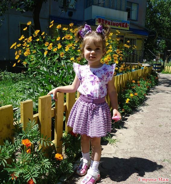 """Летняя юбочка """"Цветок Ириса"""""""
