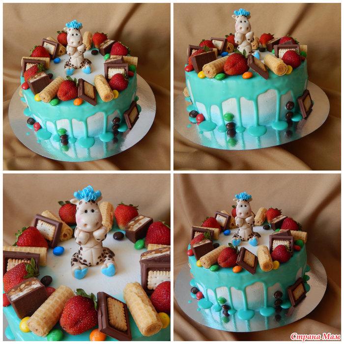 Торт на годик мальчику своими руками без мастики