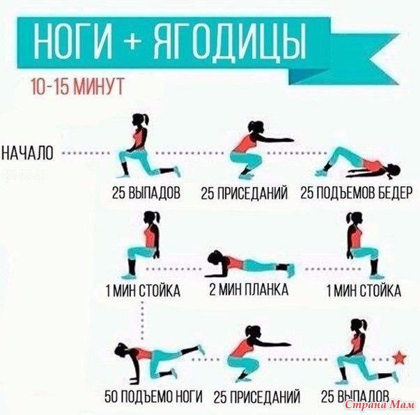 Упражнения ждя ягодиц в домашних условиях - Astro-athena.Ru