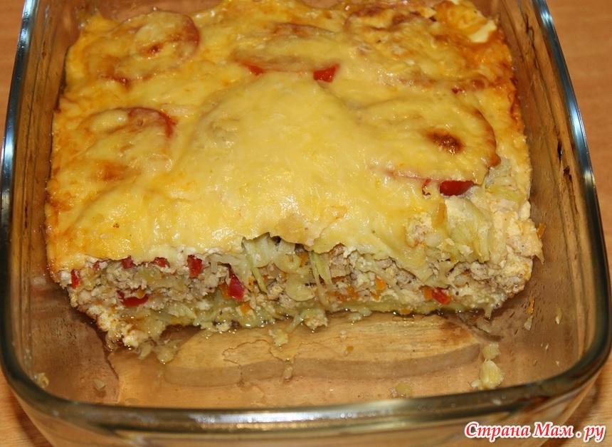 Кабачок с фаршем и картошкой в духовке рецепты