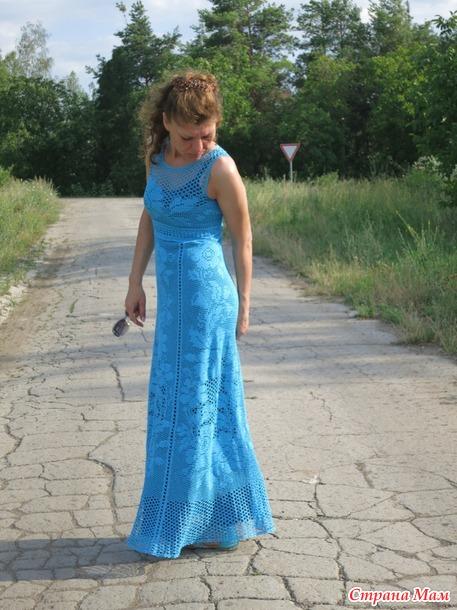 Вязание я сама платье
