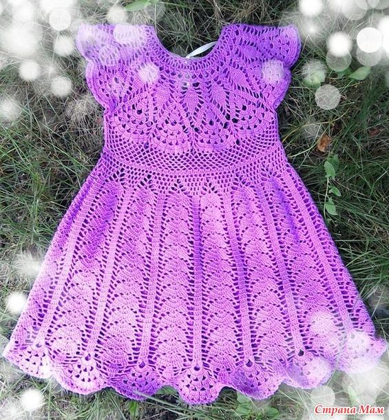 Платье Связанное Крючком Для Девочки Купить