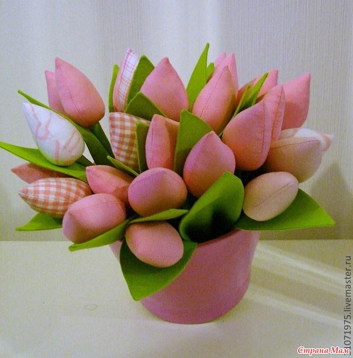 Тюльпан из фетра