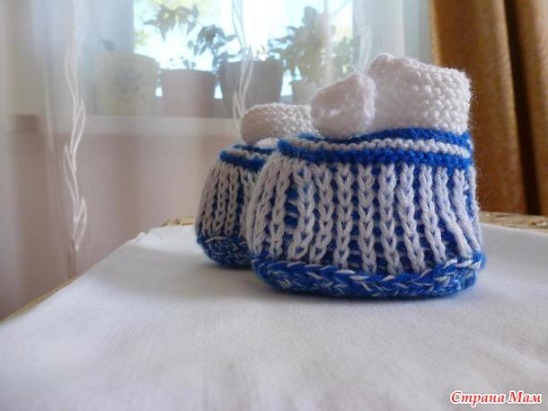 Описание вязания комбинезона для малыша. Размер: 6 - 15 мес.