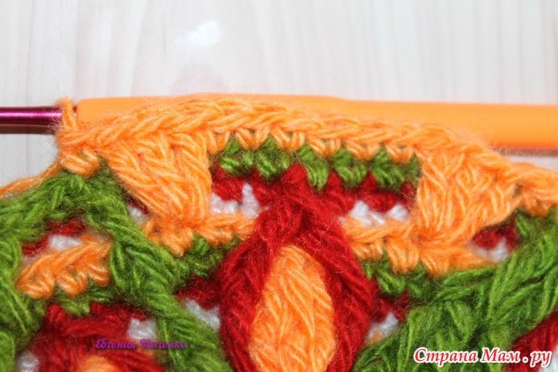 钩针教程:花卉地垫(大师班)(二) - maomao - 我随心动